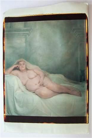 Joyce Tenneson. The Queen. Reclining nude,