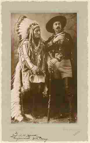 SITTING BULL AND BUFFALO BILL by William Notman, Montre