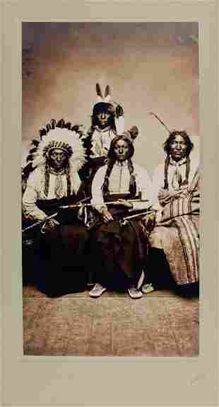 HUNKPAPA LAKOTA LEADERS , by D.F. Barry at Fort Yates,