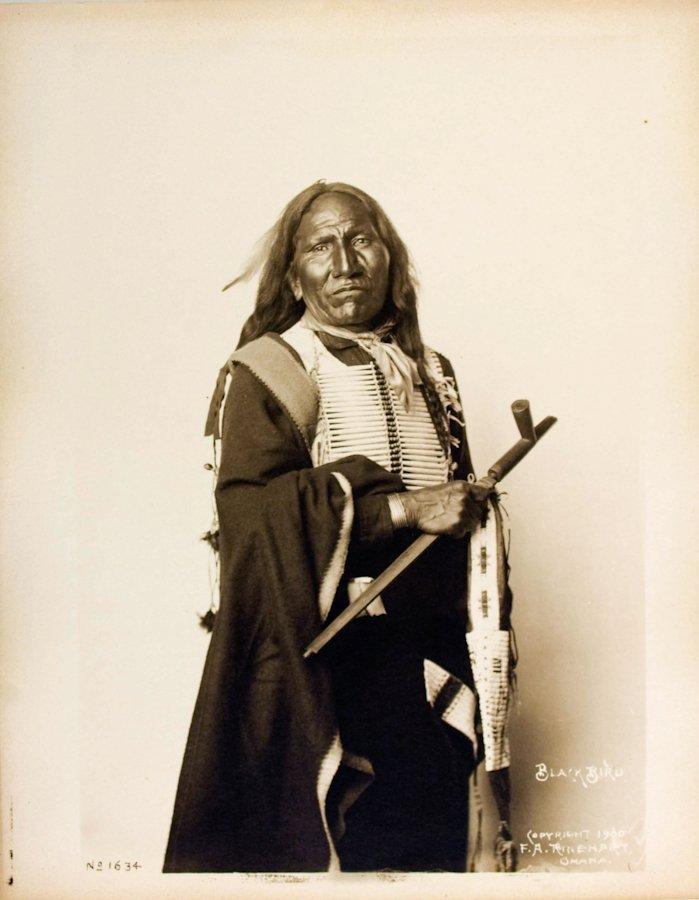BLACK BIRD  (Zintkala Sapa), Oglala Lakota, at Pine Rid