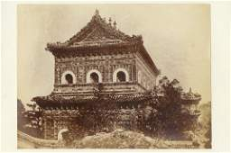 CHINESE BUILDINGS, 6 CDV'S by Beato.