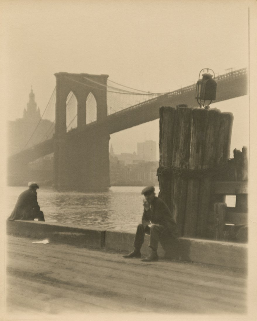 UNDER THE BROOKLYN BRIDGE, BY PAUL OUTERBRIDGE, JR.