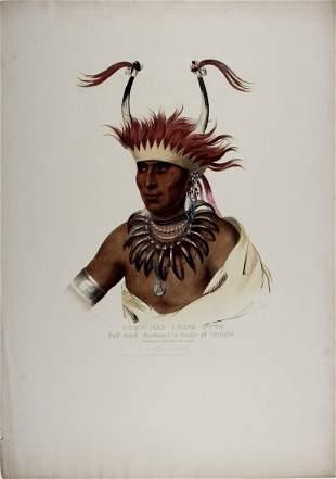 CHON-MAN-I-CASE-OTTO, hand-colored folio lithograph by