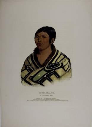 STUM_MA_NU, a Flat Head Boy. Colored McKenney & Hall