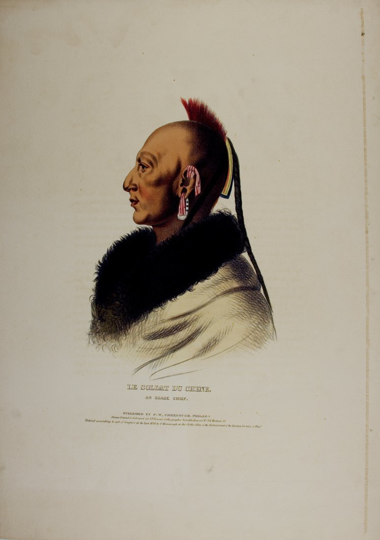 LE SOLDAT DU CHENE, An Osage Chief. McKenney & Hall