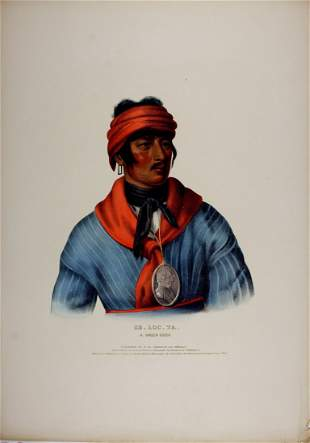 SE_LO_TA, a Creek Chief. Colored litho McKenney & Hall