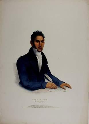 JOHN RIDGE, a Cherokee. Colored McKenney & Hall Folio