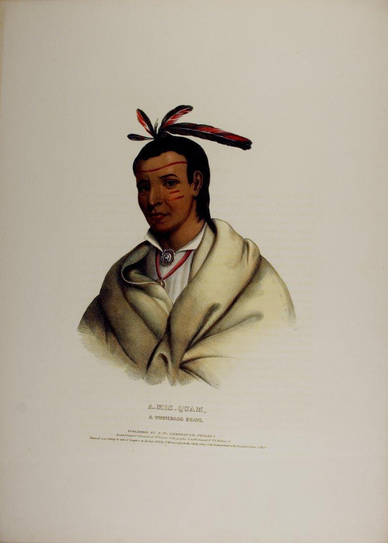 A_MIS_QUAM, a Winnebago Indian  Brave. Colored litho