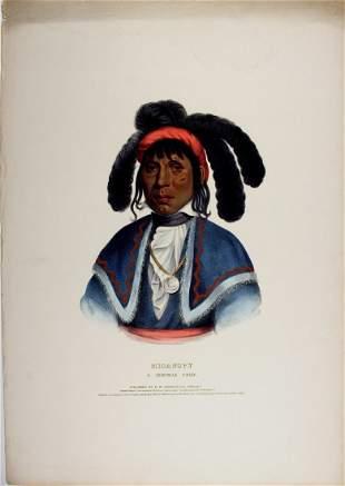MICANOPY, Seminole Indian Chief. McKenney & Hall litho