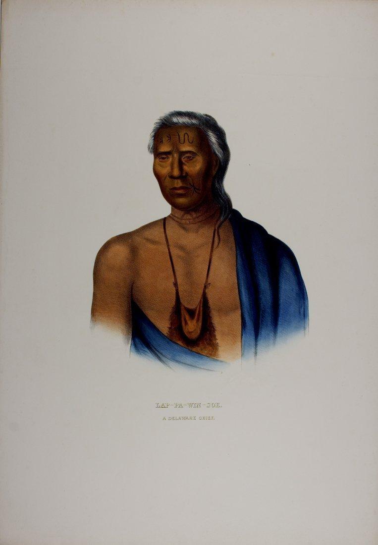 LAP-PA-WIN-SOE, a Delaware Chief. McKenney & Hall