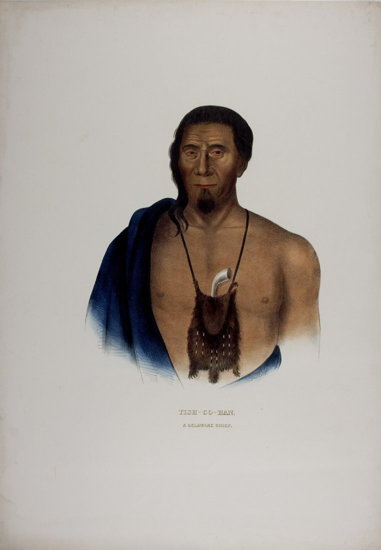 TISH-CO-HAN,  Delaware Indian Chief. Colored litho
