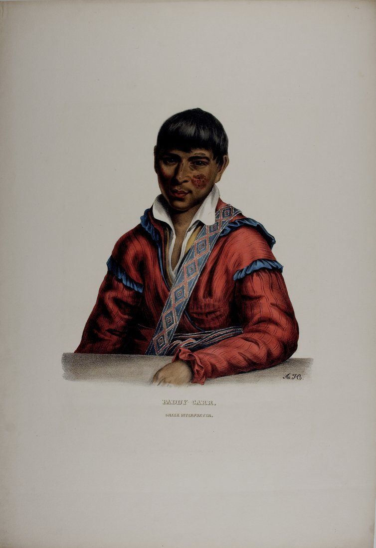 PADDY CARR, Creek Indian Interpreter. Colored litho