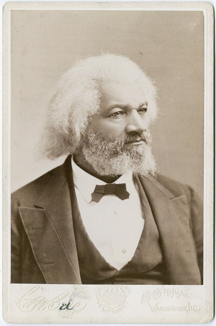 FREDERICK DOUGLASS, Cabinet card by C. M. Bell,