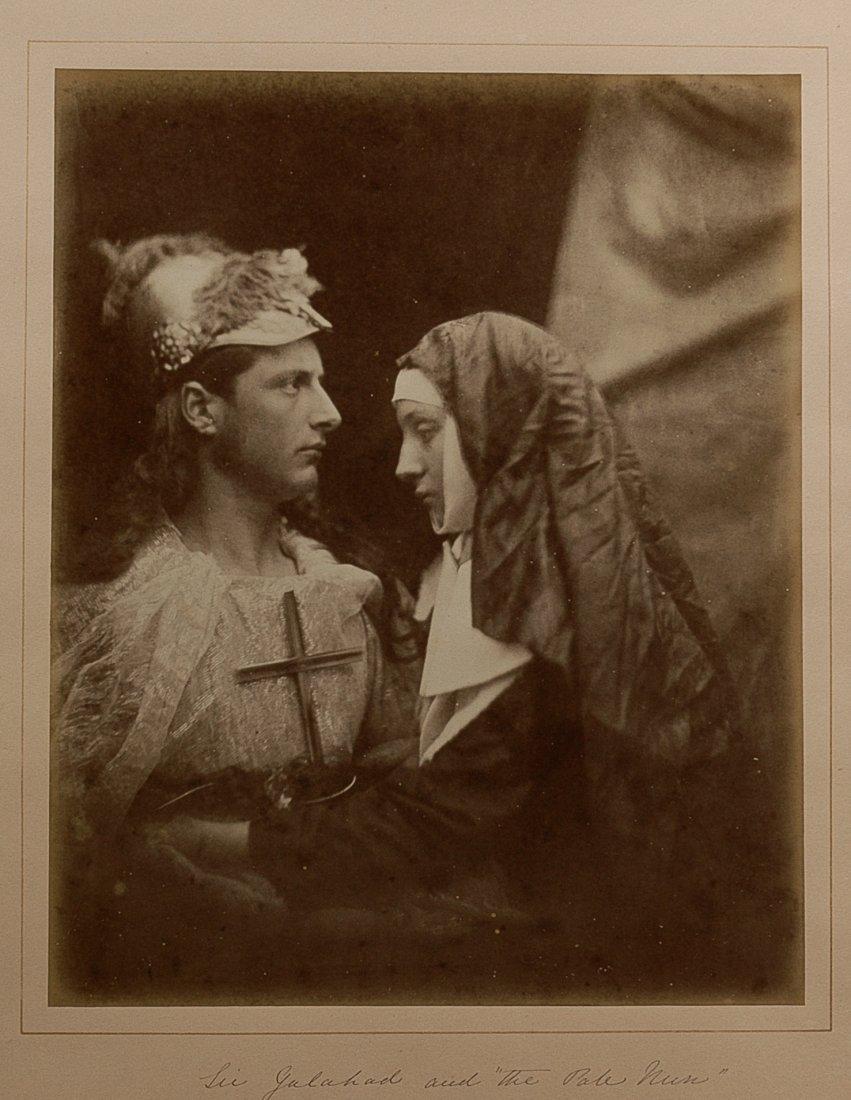 SIR GALAHAD AND 'THE PALE NUN' JULIA MARGARET CAMERON.