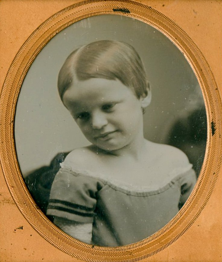 CHILD WITH TILTED HEAD BY SOUTHWORTH AND HAWES.