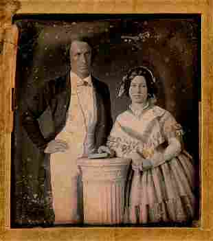 SERENE COUPLE BY M. P. SIMONS, � PLATE DAGUERREOTYPE