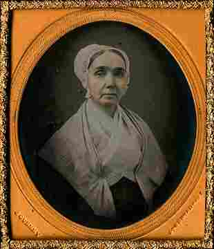 JEREMIAH GURNEY, QUAKER WOMAN. FINE DAGUERRETOYPE