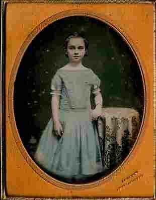 GIRL IN BLUE DRESS, BY GURNEY