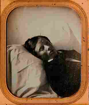 POST MORTEM OF A BOY, 1/6 PLATE DAGUERREOTYPE