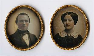 1/9 PLATE OVAL PORTRAITS IN RED PLUSH OVAL CASES
