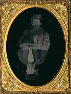 MAN IN UNIFORM AND CIVILIAN. DRESS