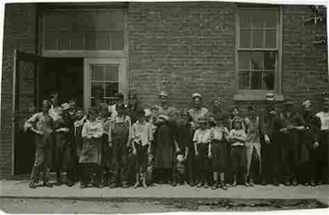 LEWIS HINE, WORKERS AT THE WEST END SHOE FACTORY,