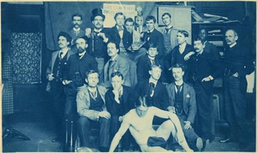 LIFE CLASS, COWLES ART SCHOOL,1893