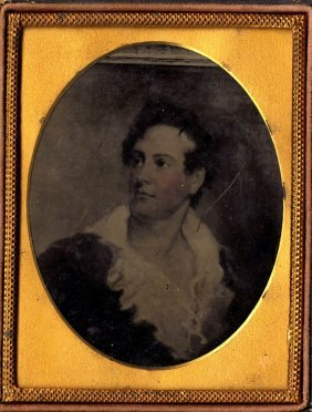 Lord Byron, Ambrotype Of A Painting, 1/4 Plate