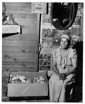 John Vachon, Fsa, Mexican Woman In Michigan, 1941