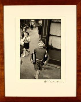 """Henri Cartier-bresson, Large Framed """"rue Moffetard"""""""