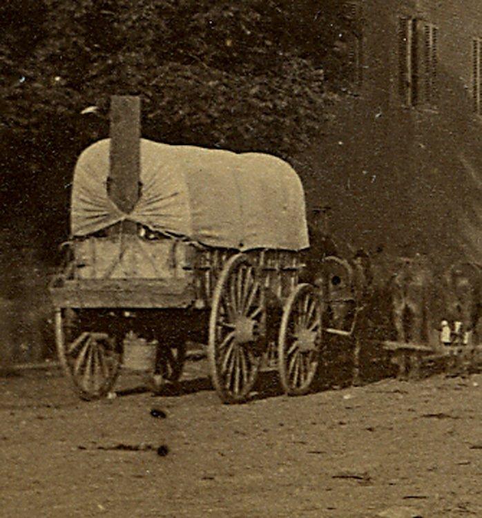 View in Culpepper Va. with O'Sullivan's photo wagon. - 2