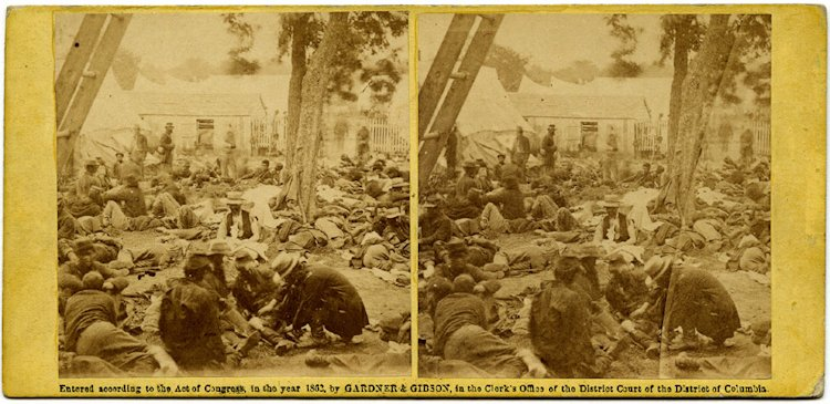 """""""Wounded, at Savage Station, after the Battle of 27th"""