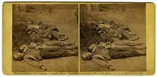 Confederate dead, 2 views by O'Sullivan, C. 1864 by