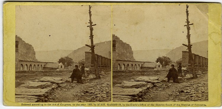 Brady at Harper's Ferry, 2 views C. 1862 by Gardner.