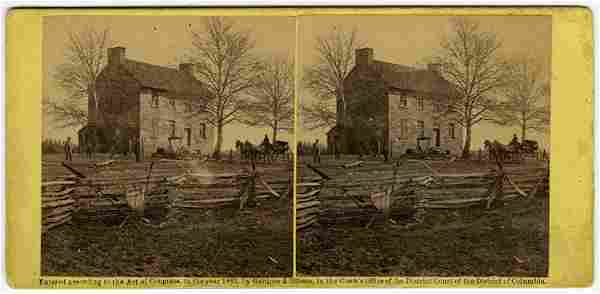 """Mathew's House, Bull Run"" by George Barnard. C. 1862"