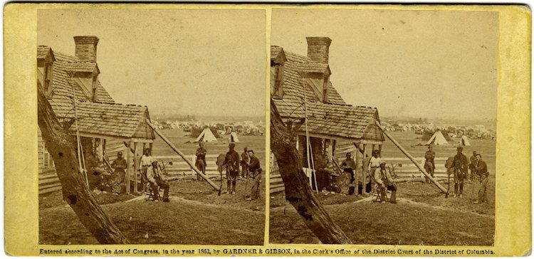 Farnhold's House, by James E. Gibson. 2 views C. 1862
