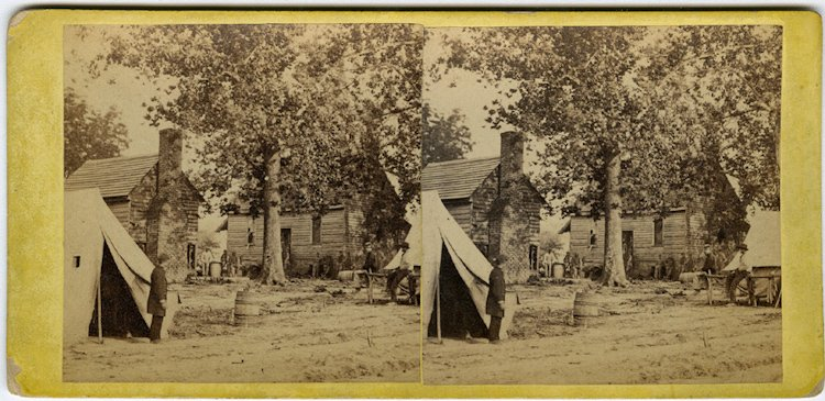 Former slaves at Fair Oaks, by Gibson.