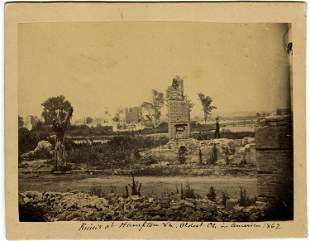 Church ruins at Hampton., two views.