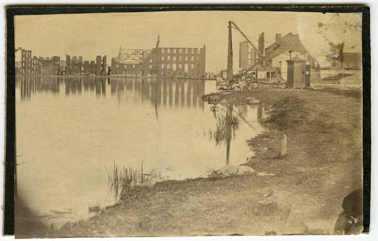 Richmond ruins, 1865, including Gallego Flour Mills