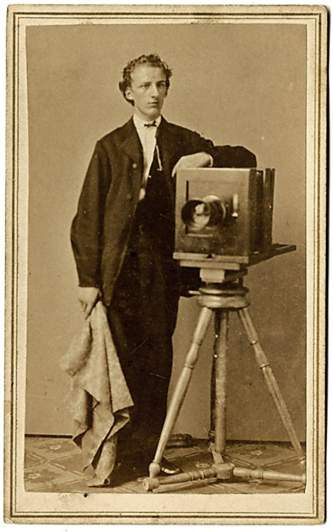 A photographer with his camera, CDV by Olsen &
