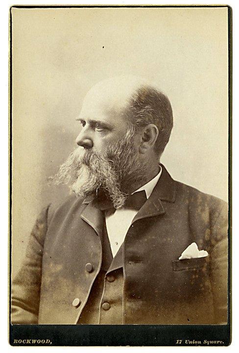 Self portrait of the photographer George Rockwood.