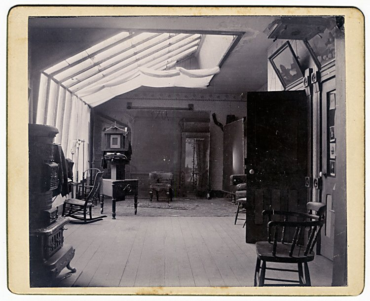 The interior of the photo gallery of G. W. Rundlett,