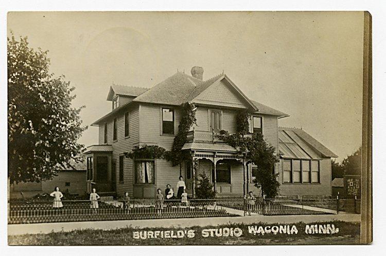 Four photo postcards of photo studio exteriors. - 2