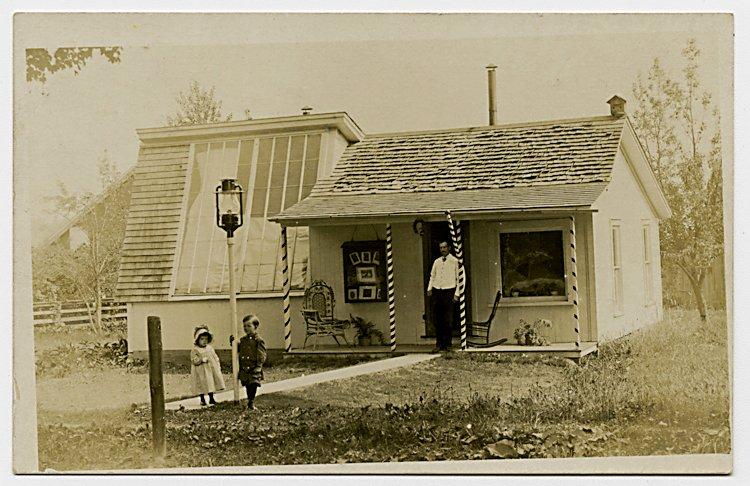 Four photo postcards of photo studio exteriors. - 3