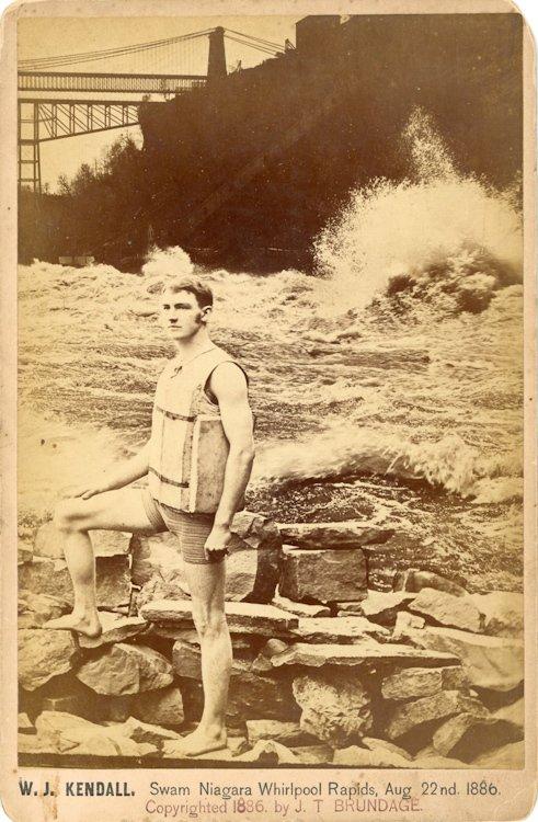 "W. J. Kendall, ""Swam Niagara Whirlpool Rapids, Aug."