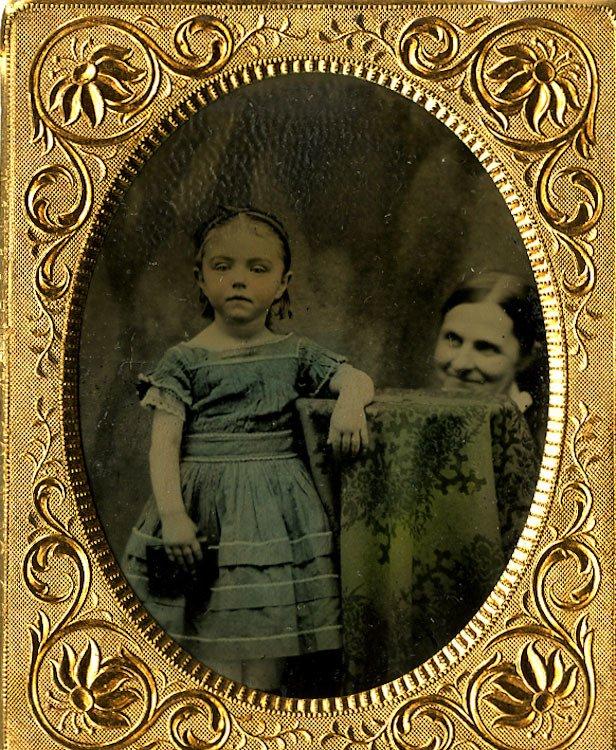 Unhidden mother. Tintype