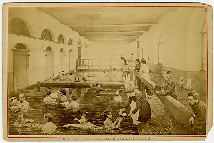A possible photo montage of the baths at Louche,