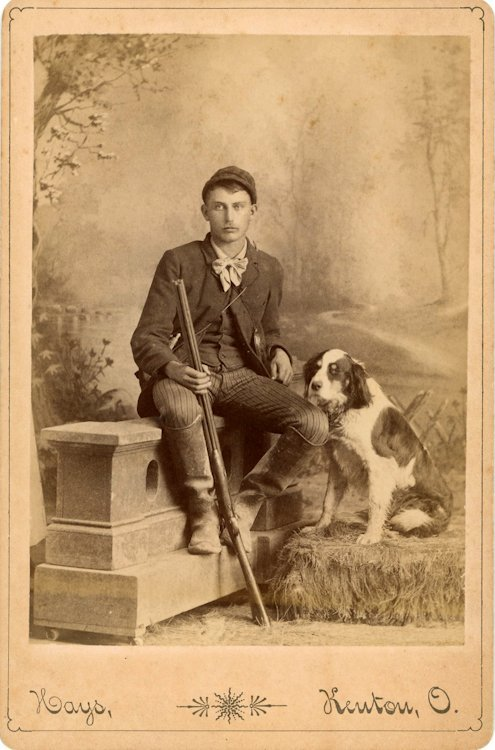 A dalmation and hunting dogs. 3 cabinet cards. - 2