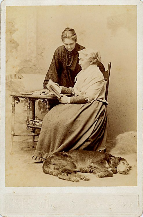 Dogs and people. 3 cabinet cards. - 2