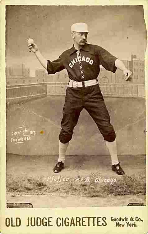 Baseball player Fred Pfeffer, 2nd base and short stop